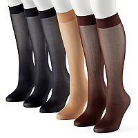 Women's Apt. 9® 6-pk. Trouser Socks