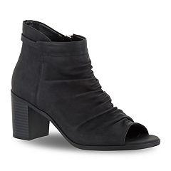 Easy Street Sansa Women's Peep Toe Ankle Boots