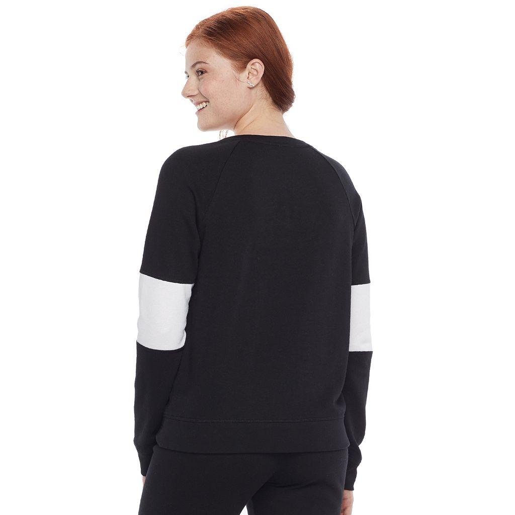 Juniors' SO® Lace-Up Long Sleeve Sweatshirt