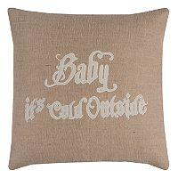 Rizzy Home ''Baby It's Cold Outside'' Throw Pillow