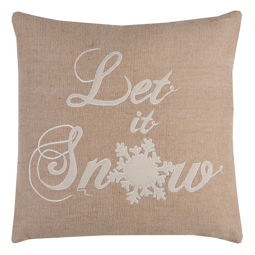 Rizzy Home ''Let It Snow'' Throw Pillow