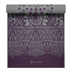 Gaiam 6mm Plum Etching Reversible Yoga Mat
