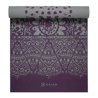 Gaiam 6mm Plum Etching Reversible Yoga Mat
