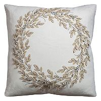 Rizzy Home Wreath I Throw Pillow