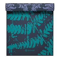 Gaiam 6mm Fern Baroque Reversible Yoga Mat