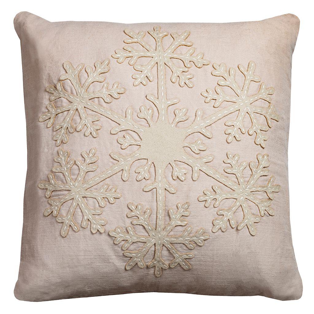 Rizzy Home Snowflake Throw Pillow