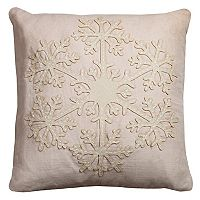 Rizzy Home Snowflake Throw Pillow