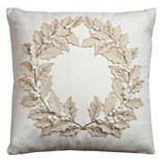 Rizzy Home Wreath II Throw Pillow