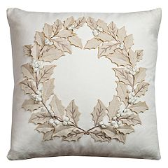 Rizzy Home Wreath II Throw Pillow