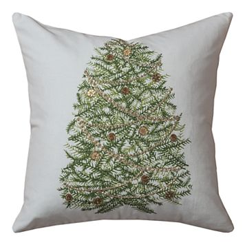 Rizzy Home Evergreen Jute Blend Throw Pillow