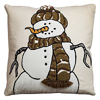 Rizzy Home Snowman I Jute Blend Throw Pillow