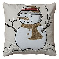 Rizzy Home Snowman II Jute Blend Throw Pillow