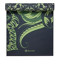 Gaiam 6mm Paisley Mirage Reversible Om Yoga Mat
