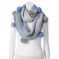 SONOMA Goods for Life™ Two Tone Pom-Pom Infinity Scarf