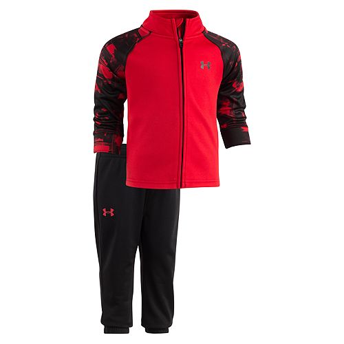 Baby Boy Under Armour Cloudy Grid Track Jacket & Pants Set