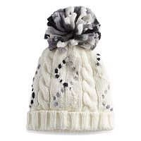 SONOMA Goods for Life™ Braided Cable Knit Pom Pom Beanie