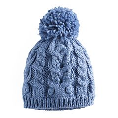 SONOMA Goods for Life™ Cable Knit Pom Pom Beanie
