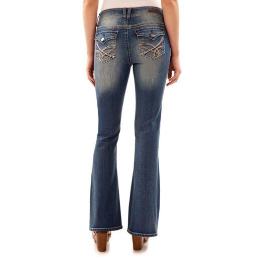 Juniors' Wallflower Luscious Curvy Flap Pocket Bootcut Jeans