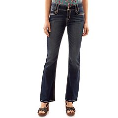 Juniors' Wallflower Luscious Curvy Flap Pocket Bootcut Jeans