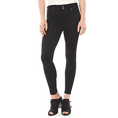 Juniors' Wallflower Black Ultra Skinny Jeans