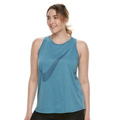 Plus Size Nike Dry Training Swoosh Graphic Tank