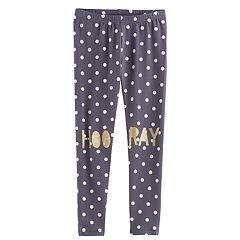 Girls 4-10 Jumping Beans® 'Hooray' Leggings