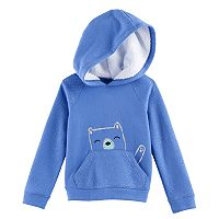 Toddler Girl Jumping Beans® Hooded Glittery Fleece Pullover