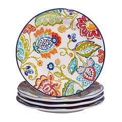 Certified International San Marino 4 pc Dessert Plate Set.