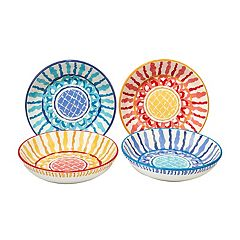 Certified International San Marino 4 pc Pasta Bowl Set.