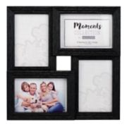 "Malden 4-Opening Distressed Black 4"" x 6"" Collage Frame"