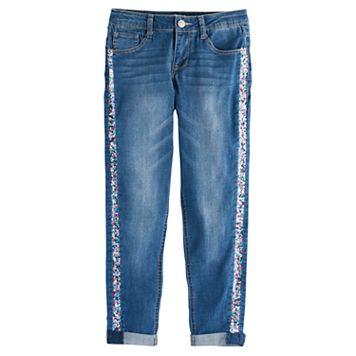 Girls 7-16 & Plus Size SO® Sequin Girlfriend Jeans