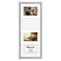 Malden 4-Opening Distressed Gray Collage Frame