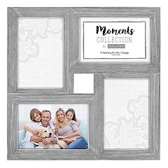 Malden 4-Opening Distressed Gray 4' x 6' Collage Frame