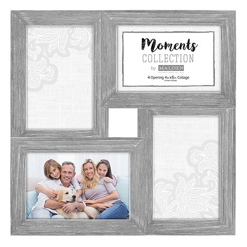 Malden Linear Distressed 5-Opening 4\'\' x 6\'\' Collage Frame | null