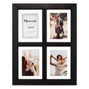 "Malden 4-Opening Distressed Black 4"" x 6"" Floating Collage Frame"