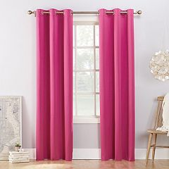 Sun Zero Fleece Lined Reversible Campus Blackout Window Curtain