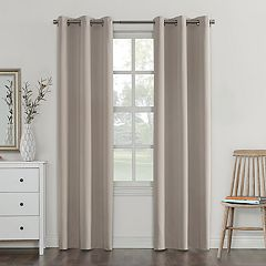Sun Zero Blackout 1-Panel Fleece Lined Reversible Campus Window Curtain