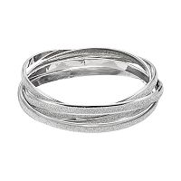 Plus Size Glitter Intertwined Bangle Bracelet