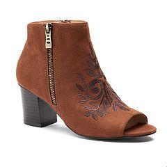 Andrew Geller Spinda Women's Peep Toe Ankle Boots