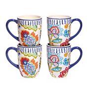 Certified International San Marino 4 pc Mug Set