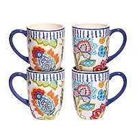 Certified International San Marino 4 pc Mug Set