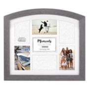 "Malden 7-Opening Distressed Gray 4"" x 6"" Arched Collage Frame"