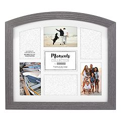 Malden 7-Opening Distressed Gray 4' x 6' Arched Collage Frame