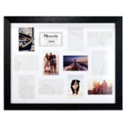 "Malden 12-Opening Distressed Black 4"" x 6"" Collage Frame"