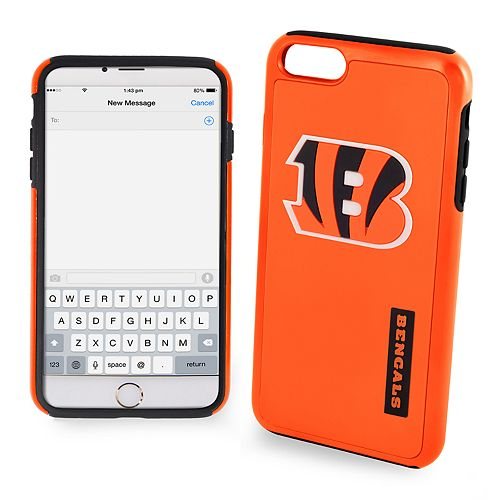 Forever Collectibles Cincinnati Bengals iPhone 6/6 Plus Dual Hybrid Cell Phone Case