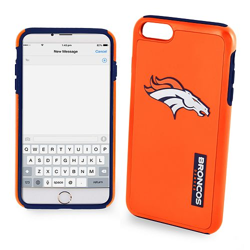 Forever Collectibles Denver Broncos iPhone 6/6 Plus Dual Hybrid Cell Phone Case