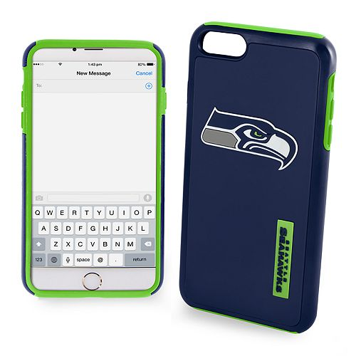 Forever Collectibles Seattle Seahawks iPhone 6/6 Plus Dual Hybrid Cell Phone Case