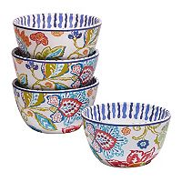 Certified International San Marino 4 pc Ice Cream Bowl Set3.
