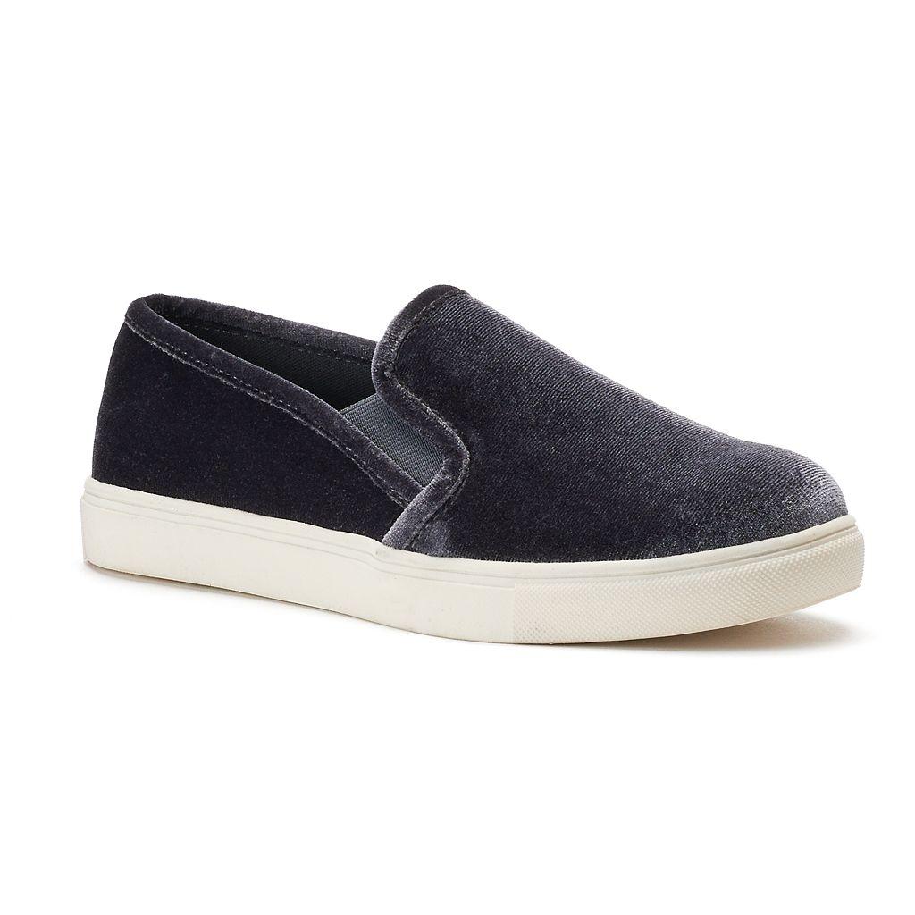 SO® Bay Women's Velvet Slip-On Sneakers