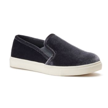 SO® Bay Women's Velvet Slip-On Sneakers
